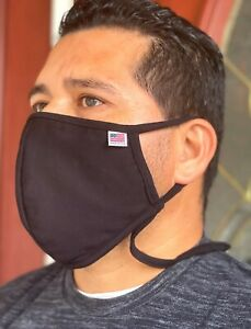 122 Big and Tall Face mask Extra L Double 100% Cotton Mouth Nose Cover Soft