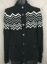 Missoni Target Black White Chevron Cotton Men's Sweater Small