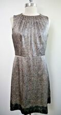 ANDREW GN print satin with lace trim dress size 42 WORN ONCE