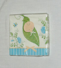 NEW  ~SWEET PEA~ BABY  SPECIAL OCCASION  16 DESSERT NAPKINS   PARTY SUPPLIES