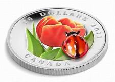 2011   $20   Tulip   Canada   Silver   Coin