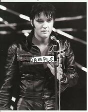 Elvis Presley: 1968 TV Special B/W Close-Up BLACK LEATHER 8 x 10 Photo