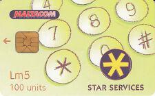 Malte/Malta  Maltacom Star Services  Lm5 100 units