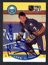 John Tucker #420 signed autograph auto 1990-91 Pro Set Hockey Trading Card