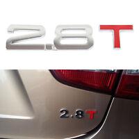 2.8T Metal Letter Number Stickers Sticker Rear Trunk Emissions Emblem Logo Badge