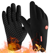 Thermal Windproof Fleece Lined Winter Gloves Touch Screen Warm Mittens Men Women
