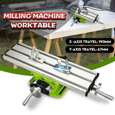 Milling Machine Compound Working Table Cross Slide Bench Drill Vise Fixture Kit