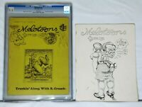 Melotoons #1 1972 CGC 5.5 & #2 1976 Robert Crumb, Published Peter Kuper Free S&H