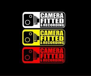 2X DASH CAM STICKERS HELMET STICKERS CAR STICKER CCTV Warning TAXI MINIBUS COACH