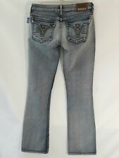 NWT $150 PRVCY Barbados Denim Jeans Low Rise Boot Cut 33x33 Light Wash