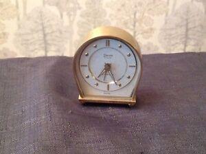 Swiza Coquet 4 Jewel Vintage Alarm Clock Brass Case Winds Alarms Ticks but stops