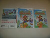 "(Case, Manual & Artwork Only) (NO GAME) Nintendo Wii ""Super Paper Mario"""