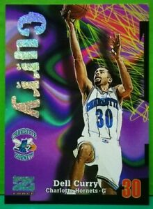 Dell Curry insert card Rave 1997-98 Skybox Z-Force #65