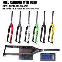 29er Thru Axle Carbon fork MTB Rigid Disc Fork 3k/UD Mountain Bike fork 6 color