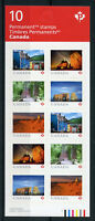Canada 2018 MNH From Far & Wide 10v S/A Booklet Architecture Tourism Stamps