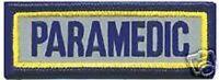PARAMEDIC REFLECTIVE EMT EMS 3X1   FIRE EMBLEM PATCH
