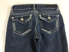 Daytrip Jeans Lynx Skinny Buckle Womens 26 Short Stones 29 x 26 Actual Bling