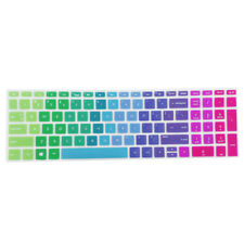 Soft Laptop Keyboard Skin Protector Cover for HP 15.6 inch Laptop BF Rainbow