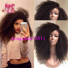 Black Heat Resistant Afro Kinky Curly Lace Front Hair Wig For Black Women Wig
