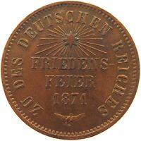 GERMAN STATES 1 KREUZER 1871 BADEN #ri 387