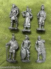 #D290.  SET OF 6  HUN  ANCIENT WARRIORS  METAL FIGURES
