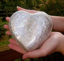 JUDITH LEIBER SWAROVSKI CRYSTAL HEART N SOUL LOVE MINAUDIERE CLUTCH EVENING BAG