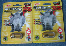 RHINO 25 Platinum 200K Male Enhancement 2 Pills