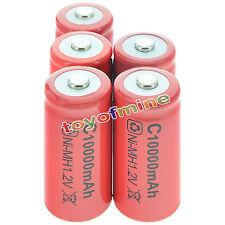 5x C 10000mAh Ni-MH Colore Rosso batteria ricaricabile Stati Uniti d'America