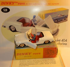 DINKY ATLAS PEUGEOT 404 CABRIOLET PININFARINA BLANCHE REF 528 IN BOX