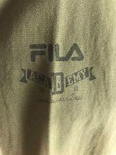 FILA Academy Men's Khaki Green Zip/Button Cotton Jacket Size S