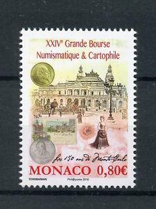 Monaco 2016 MNH Grande Bourse Monte Carlo Coins & Postcards Fair 1v Set Stamps