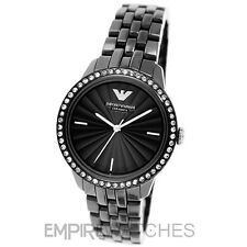 *NEW* LADIES EMPORIO ARMANI BLACK CERAMIC WATCH - AR1478 - RRP £399.00