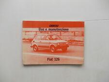 Libretto uso e manutenzione FIAT 126.