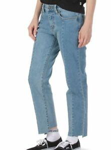 VANS Bambino Selvaggio Donna Classico 5-Pocket Styling Jeans 26 Vintage Blu New