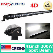 200W 41''inch LED Light Bar Single Row 4D Lens Slim Lamp Driving Car Vehicle TOP