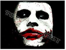 NEW Heath Ledger Joker Original Art Painting PRINT 11x14 Dark Knight Horror Deco