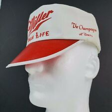 Miller High Life Beer vintage White Painter hat / cap All over logos snapback