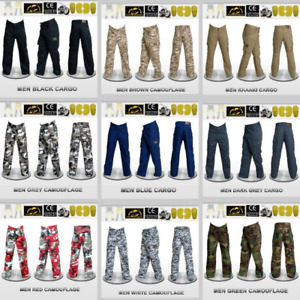 Men Motorcycle Cargo/Camouflaged Pants Reinforced with Protective Fiber Armor