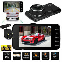 1080P Dual Lens Car Dash Cam Front  Rear Camera Dashboard DVR Recorder 4inch