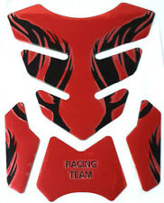 Tank Pad Protection Motorcycle 3D Universal Red Shiny Universal Wide Gloss