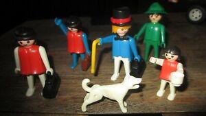 Playmobil-Lot Personnages avec accessoires-1974 et petite fille de 1981