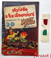 MIGHTY MOUSE 3-D I° fumetto tridimensionale Italia Ed MONDIALI 1953 TERRY Kubert
