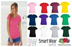 Lady-Fit T-Shirt - Pack of 3,5,&10 61372 (MULTI COLOUR) Fruit of the Loom 61372