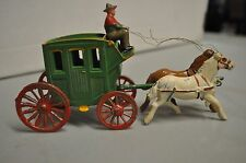 Vintage Lead Horse+Carriage ~ Made In France ~ (Needs Repair)WH