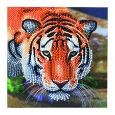 Diamond Painting Kit Tiger Greeting Card 18x18 Cm Crystal Art Craft Buddy
