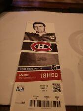 Montreal Canadiens 2013 season Unused Ticket Stub Rocket Maurice Richard