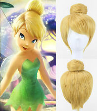 Tinker Bell Wig Yellow Cosplay Wigs Costume Short Straight Synthetic Hair Updo