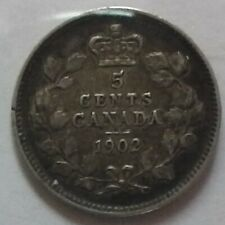 1902 5 Cents Canadian F-12