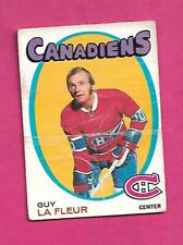 1971-72 OPC # 148 CANADIENS GUY LAFLEUR ROOKIE POOR CARD (INV# D2272)