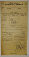 "1936 1937 CORD ""CITIES SERVICE"" LUBRICATION RECORD (VERY RARE...LAST ONE)"